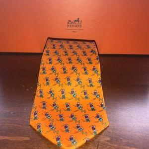 Hermes Silk Tie - Skateboarder (Orange) S/S 2017